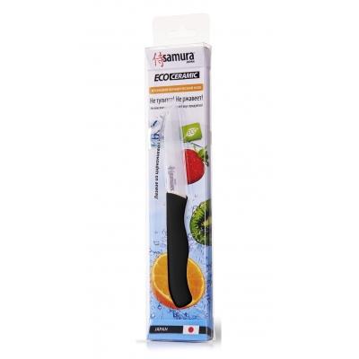 """Нож кухонный овощной керамический, черный, 75 мм, Samura """"Eco-ceramic"""" (SC-0011BL)"""