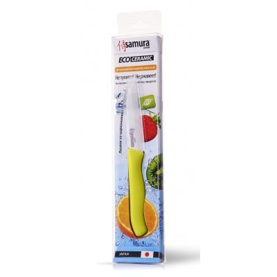 """Нож кухонный овощной керамический, зеленый, 75 мм, Samura """"Eco-ceramic"""" (SC-0011GRN)"""