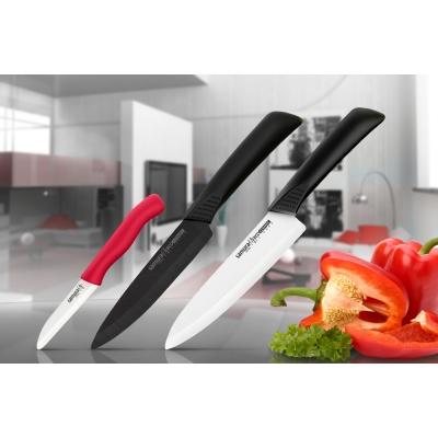 """Нож кухонный овощной керамический, красный, 75 мм, Samura """"Eco-ceramic"""" (SC-0011RED)"""