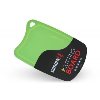 """Доска разделочная термопластиковая с антибактериальным покрытием, Samura """"Fusion"""", зеленая (SF-02GR)"""