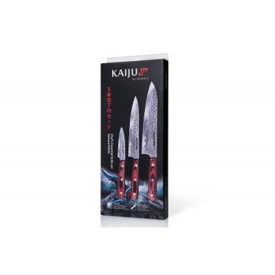 """Набор из 3-х кухонных ножей """"Поварская тройка"""" в подарочной упаковке, """"Samura KAIJU"""" (SKJ-0220)"""
