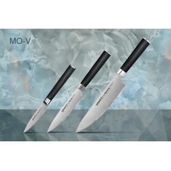 """Набор из 3-х кухонных ножей (овощной, универсальный, Шеф) в подарочной коробке, Samura """"Mo-V"""" (SM-0220)"""
