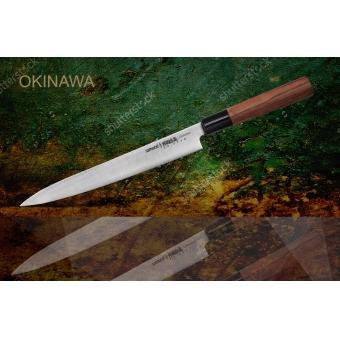 """Нож кухонный Янагиба, 240 мм, Samura """"Okinawa"""" (SO-0110)"""